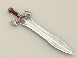 Hobbit Bilbo Sting Sword 3d model