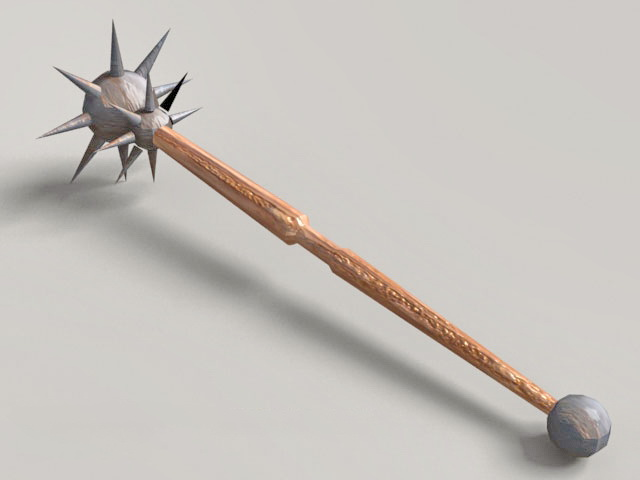 Medieval Spiked Ball Mace Weapon 3d model
