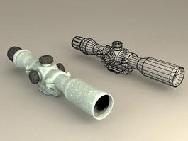 Rifle Scope 3d model