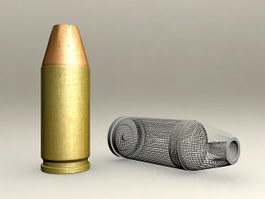 Hollow Point Bullet 3d model