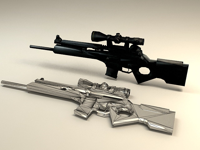SL8 Sniper Rifle 3d model