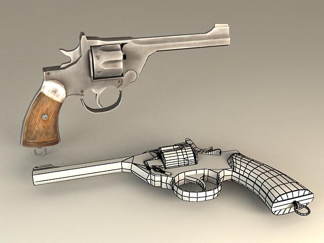 Automatic Revolver 3d model