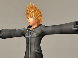 Kingdom Hearts Character Roxas 3d model