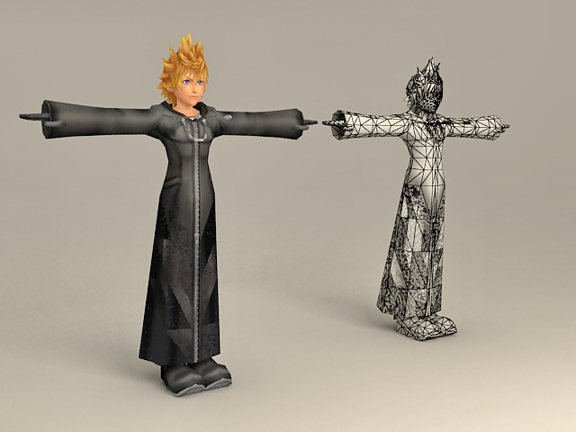 Kingdom Hearts Character Roxas 3d model