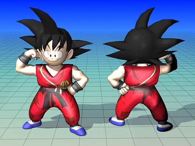Son Goku Dragon Ball Character 3d model