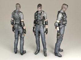 DEA Special Agent 3d model