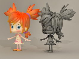 CG  Little Girl 3d model