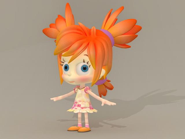 CG Little Girl 3d model