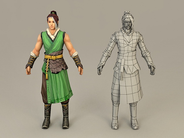 Ancient Chinese Man 3d model