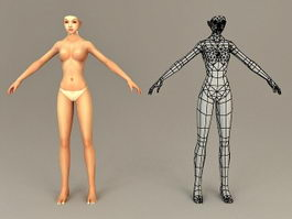Nude Female Body 3d model