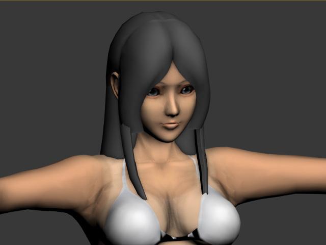 Curvy Girl in Bikini 3d model