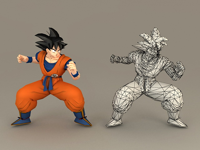 Dragon Ball Son Goku 3d Model 3ds Max Files Free Download