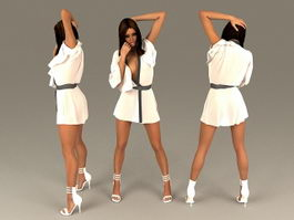 Sexy Black Woman 3d model