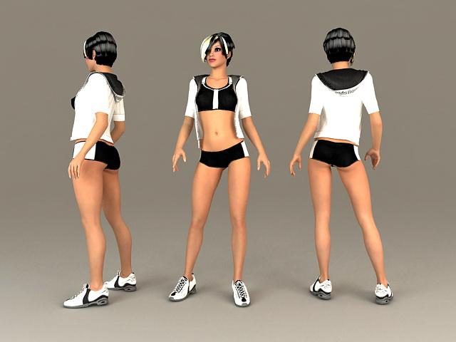 Sports Girl 3d model