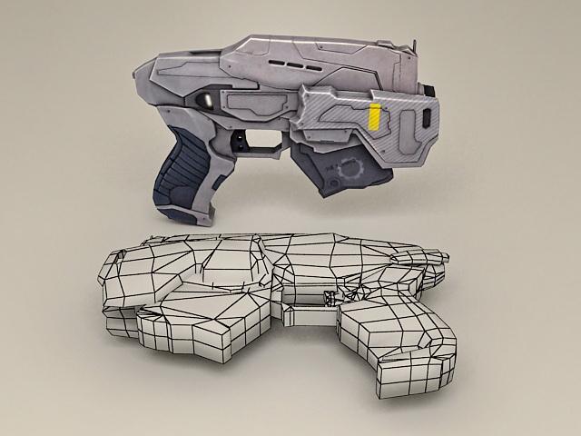 Sci-Fi Handgun 3d model
