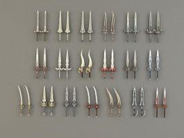 Two-Handed Swords 3d model