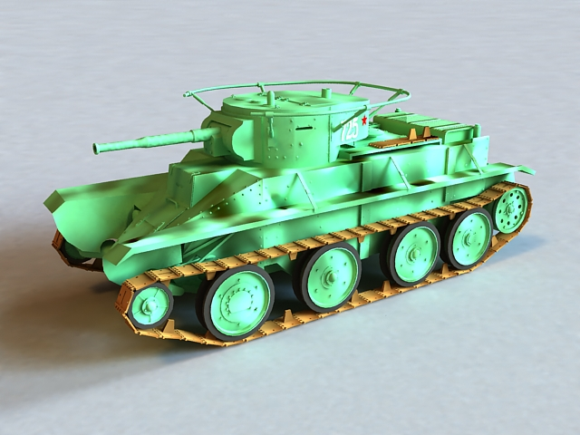 Russian BT-5 Tank 3d model