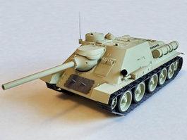 Russian SU-100 Tank Destroyer 3d model