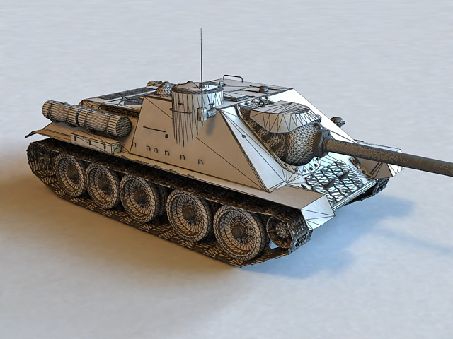 Russian SU-100 Tank Destroyer 3d rendering