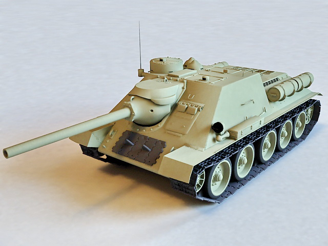 Russian SU-100 Tank Destroyer 3d model