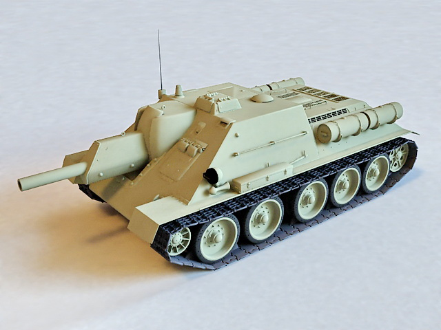 Russian SU-122 Tank Destroyer 3d model