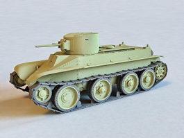 Russian BT-2 Cavalry Tank 3d model