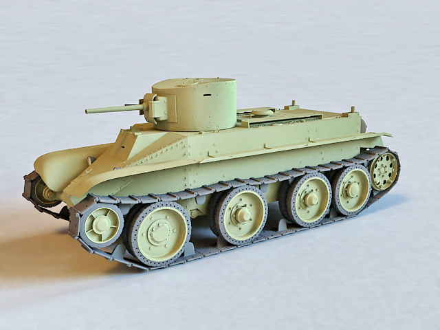 Russian BT-2 Cavalry Tank 3d model