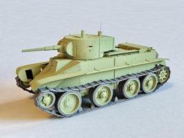 Soviet BT-7 Tank 3d model