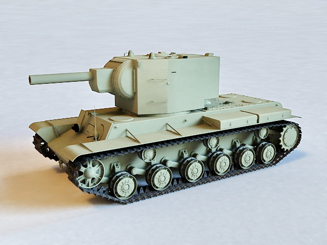 Russian KV-2 Tank 3d model
