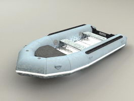 Zodiac Inflatable Boat 3d model