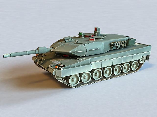 German Leopard 1 Tank 3d model