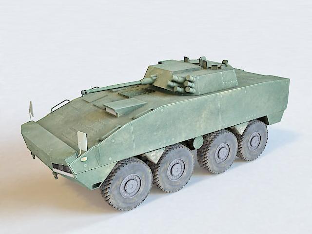 KTO Rosomak Wheeled Armored Vehicle 3d model