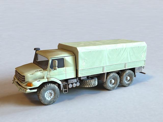 Mercedes-Benz Zetros Truck 3d model