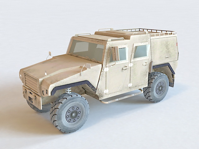 Mowag Eagle Wheeled Armored Vehicle 3d model