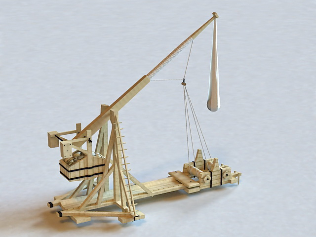 Trebuchet Medieval Siege 3d model