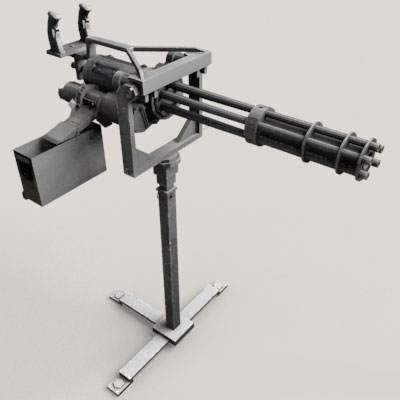 Vulcan Automatic Cannon 3d model