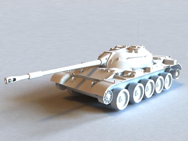 Russian T-54 Tank 3d model