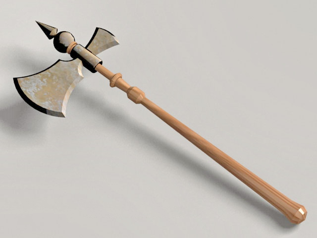Executioner Medieval Axe 3d model
