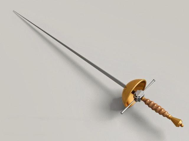 Cup Hilt Sword 3d model
