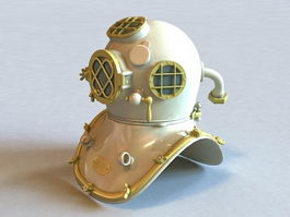 Underwater Scuba Diving Helmet 3d model