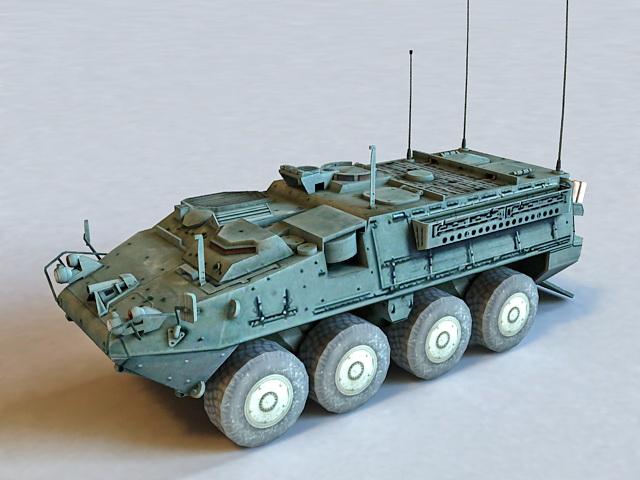 IAV Stryker Combat Vehicle 3d model