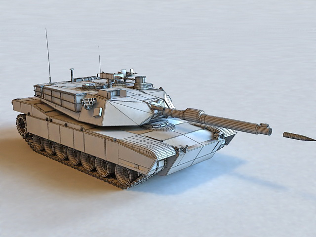 M1 Abrams Tank in Action 3d model