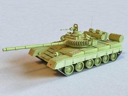 Russian T-80 Tank 3d model