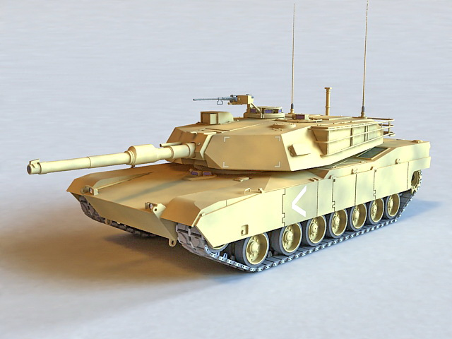 M1A2 Abrams Tank 3d model