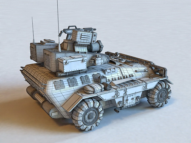 Wheeled Combat Vehicle 3d model