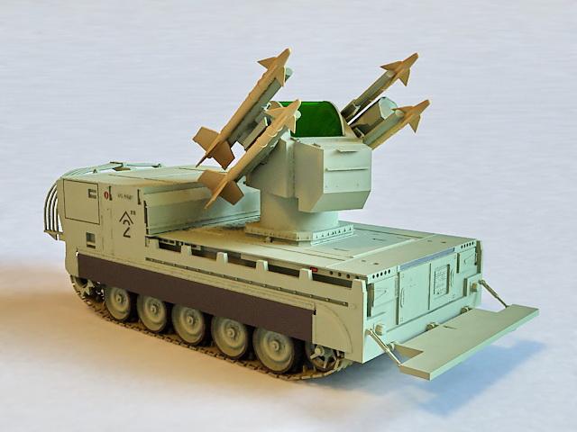 M730A1 Chaparral Missile System 3d model