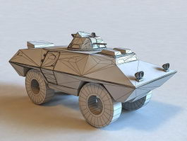 Cadillac Gage Commando Armored Vehicle 3d model