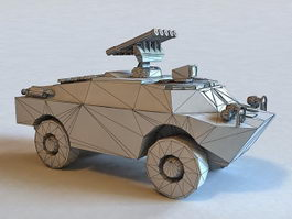 BRDM-3 Armoured Reconnaissance Vehicle 3d model