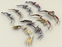 Fantasy Bow Collection 3d model