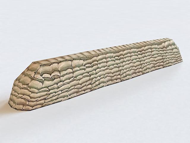 Military Wall Sandbags 3d model